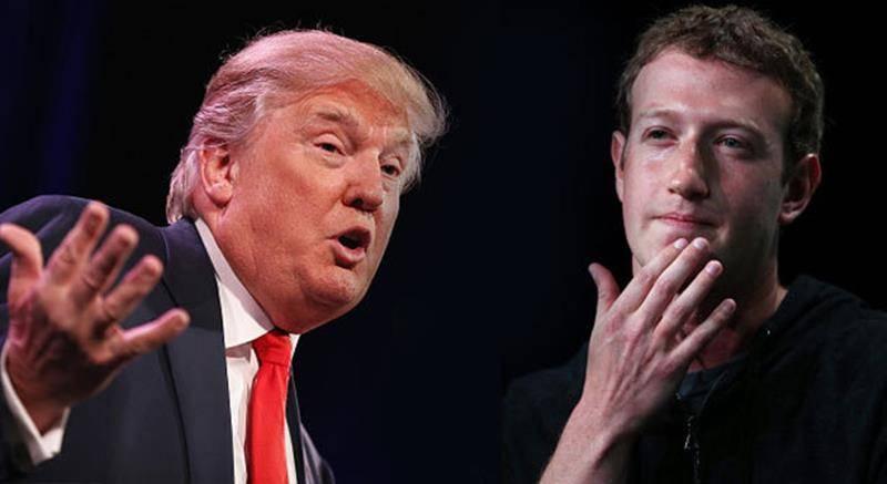Zuckerberg vs Trump